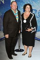 "HOLLYWOOD, CA - NOVEMBER 19: John Lasseter, Nancy Lasseter at the World Premiere Of Walt Disney Animation Studios' ""Frozen"" held at the El Capitan Theatre on November 19, 2013 in Hollywood, California. (Photo by David Acosta/Celebrity Monitor)"