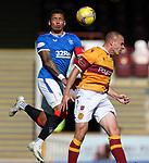 27.09.2020 Motherwell v Rangers:  James Tavernier and Liam Grimshaw