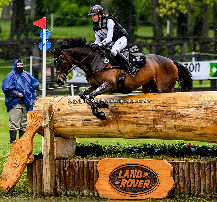 April 24, 2021: Anna Siemer competes in the Cross Country phase of the Land Rover 5* 3-Day Event aboard Frh Butt'S Avondale at the Kentucky Horse Park in Lexington, Kentucky. Scott Serio/Eclipse Sportswire/CSM