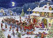 Marcello, CHRISTMAS LANDSCAPES, WEIHNACHTEN WINTERLANDSCHAFTEN, NAVIDAD PAISAJES DE INVIERNO, paintings+++++,ITMCXM1503,#XL# ,puzzle ,marketplace