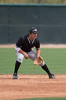 Chicago White Sox second baseman Mikey Duarte (73) during a Minor League Spring Training game against the Chicago White Sox at Camelback Ranch on March 16, 2018 in Glendale, Arizona. (Zachary Lucy/Four Seam Images)