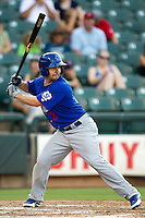 Las Vegas 51s catcher Tuffy Gosewisch #3 at bat during the Pacific Coast League baseball game against the Round Rock Express on August 7th, 2012 at the Dell Diamond in Round Rock, Texas. The Express defeated the 51s 5-4. (Andrew Woolley/Four Seam Images).