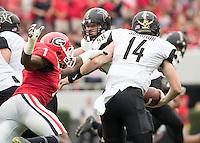 Athens, GA - October 15, 2016: The University of Georgia Bulldogs play the Vanderbilt University Commodores at Sanford Stadium.