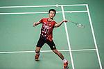 Chong Wei Feng of Malaysia competes against Sameer Verma of India during the 2016 Hong Kong Open Badminton Championships at the Hong Kong Coliseum on November 25, 2016 in Hong Kong, China. Photo by Marcio Rodrigo Machado / Power Sport Images