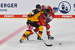 Eishockey: Deutschland – Tschechien am 01.05.2021 in der ARENA Nürnberger Versicherung in Nürnberg<br /> <br /> Tschechiens Radim Salda (Nr.85) gegen Deutschlands Frederick Tiffels (Nr.95)<br /> <br /> Foto © Duckwitz/osnapix/PIX-Sportfotos *** Foto ist honorarpflichtig! *** Auf Anfrage in hoeherer Qualitaet/Aufloesung. Belegexemplar erbeten. Veroeffentlichung ausschliesslich fuer journalistisch-publizistische Zwecke. For editorial use only.