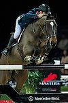 Joe Clee of United Kingdom riding Vedet de Muze E T in action during the Gucci Gold Cup as part of the Longines Hong Kong Masters on 14 February 2015, at the Asia World Expo, outskirts Hong Kong, China. Photo by Johanna Frank / Power Sport Images