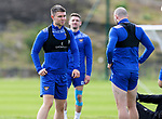 St Johnstone Training...<br />Glenn Middleton pictured talking with Chris Kane during training ahead of tomorrow nights Premier Sports Cup quarter final against Dundee<br />Picture by Graeme Hart.<br />Copyright Perthshire Picture Agency<br />Tel: 01738 623350  Mobile: 07990 594431