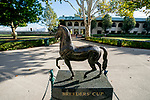 October 31, 2020: The Breeders' Cup statue at Keeneland Racetrack in Lexington, Kentucky on October 31, 2020. Scott Serio/Eclipse Sportswire/Breeders Cup/CSM