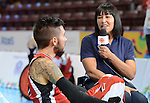 Toronto - Aug 10, 2015 - Canada's Wheelchair Rugby team vs. ARG at the Mississauga Sports Centre during the Toronto 2015 Parapan American Games (Photo: Kalie Sinclair / Canadian Paralympic Committee)
