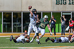 Oklahoma State Cowboys quarterback Taylor Cornelius (14) in action during the game between the OSU Cowboys and the Baylor Bears at the McLane Stadium in Waco, Texas.