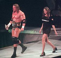 Triple H Stephanie McMahon 1999                                         By John Barrett/PHOTOlink