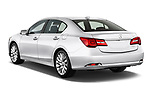 Car pictures of rear three quarter view of 2014-2016 Acura RLX Base 4 Door Sedan angular rear
