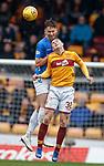 07.04.2019 Motherwell v Rangers: Nikola Katic and Jake Hastie