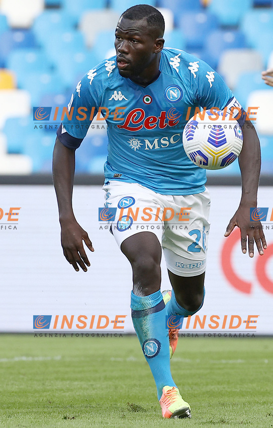 Kalidou Koulibaly of SSC Napoli<br /> during the Serie A football match between SSC Napoli and Atalanta BC at stadio San Paolo in Napoli (Italy), October 17th, 2020. <br /> Photo Cesare Purini / Insidefoto