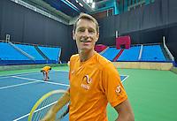 Moskou, Russia, Februari 3, 2016, Fed Cup Russia-Netherlands,  Practise Dutch team,  captain Paul Haarhuis <br /> Photo: Tennisimages/Henk Koster