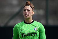 Astrid Gilardi of FC Internazionale reacts showing her tongue during the Women Serie A football match between AS Roma and FC Internazionale at stadio Agostino Di Bartolomei, Roma, March 20th, 2021. AS Roma won 4-3 over FC Internazionale. Photo Andrea Staccioli / Insidefoto