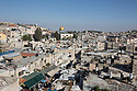 Jerusalem - View over the Old City of Jerusalem. Father Stewart and the HMML consider Jerusalem one of their priorities, given the permanently volatile political situation in the Holy City. Active in Jerusalem since 2011, the HMML has already digizited three Christian and Islamic collections and is currently working on other two.