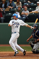 February 21 2009: Casey Haether of the UCLA Bruins during game against the UC Davis Aggies at Jackie Robinson Stadium in Los Angeles,CA.  Photo by Larry Goren/Four Seam Images