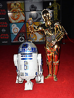 """R2-D2 & C-3PO at the world premiere for """"Star Wars: The Last Jedi"""" at the Shrine Auditorium. Los Angeles, USA 09 December  2017<br /> Picture: Paul Smith/Featureflash/SilverHub 0208 004 5359 sales@silverhubmedia.com"""