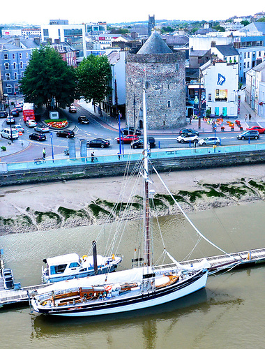 The 64ft cutter Annabel J at Reginald's Tower in Waterford.  Photo: Norman Kean