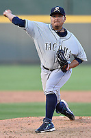 Tacoma Rainiers pitcher Erasmo Ramirez (30) delivers a pitch during pacific coast league baseball game, Saturday August 16, 2014 in Round Rock, Tex. Tacoma Rainiers win game one of the best of four series 8-7. (Mo Khursheed/TFV Media via AP Images)