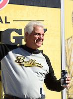 Nov. 11, 2012; Pomona, CA, USA: NHRA funny car driver Jim Head during the Auto Club Finals at at Auto Club Raceway at Pomona. Mandatory Credit: Mark J. Rebilas-