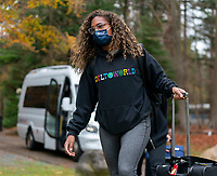 ZEIST, NETHERLANDS - NOVEMBER 20: Catarina Macario of the USWNT arrives at training camp on November 20, 2020 in Zeist, Netherlands.
