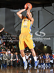McNeese State Cowboys guard Stephan Martin (22) in action during the game between the McNeese State Cowboys and the UTA Mavericks held at the University of Texas at Arlington's, Texas Hall, in Arlington, Texas.  McNeese State defeats UTA 81 to 72.