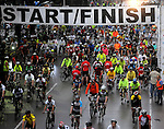 A group of cyclists start the annual Tour de Houston bike ride downtown Sunday  March 16, 2014.(Dave Rossman photo)