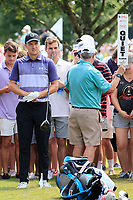 5th September 2021: Atlanta, Georgia, USA;  Jordan Spieth (USA) prepares his shot from the out of bounds area on the 8th hole during the 4th and final round of the TOUR Championship  at the East Lake Club in Atlanta, Georgia.