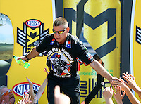 Jun 12, 2016; Englishtown, NJ, USA; NHRA funny car driver Jim Campbell during the Summernationals at Old Bridge Township Raceway Park. Mandatory Credit: Mark J. Rebilas-USA TODAY Sports