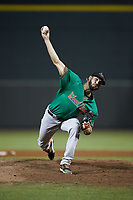 Down East Wood Ducks relief pitcher Joe Barlow (14) in action against the against the Winston-Salem Dash at BB&T Ballpark on May 10, 2019 in Winston-Salem, North Carolina. The Wood Ducks defeated the Dash 9-2. (Brian Westerholt/Four Seam Images)