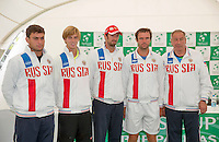 Moscow, Russia, 14 th July, 2016, Tennis,  Davis Cup Russia-Netherlands, The draw, Russian team <br /> Photo: Henk Koster/tennisimages.com