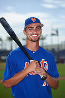 GCL Mets outfielder Jack Schneider (76) poses for a photo before the first game of a doubleheader against the GCL Nationals on July 22, 2017 at The Ballpark of the Palm Beaches in Palm Beach, Florida.  GCL Mets defeated the GCL Nationals 1-0 in a seven inning game that originally started on July 17th.  (Mike Janes/Four Seam Images)