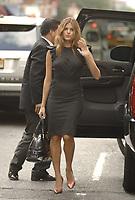 NEW YORK - OCTOBER 10, 2007: Actress Eva Mendes fixes her dress on the streets of New York. On October 10, 2007 in New York City <br /> <br /> <br /> People:  Eva Mendes