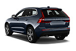 Car pictures of rear three quarter view of a 2018 Volvo XC60 Momentum 5 Door SUV angular rear
