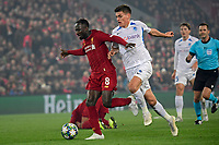 LIVERPOOL, GREAT BRITAN - NOVEMBER 5 : Naby Keita midfielder of Liverpool battles for the ball with Joakim Maehle Pedersen defender of Genk during the UEFA Champions League match between Liverpool FC and KRC Genk on November 05, 2019 in Liverpool, Great Britan, 5/11/2019 <br /> Liverpool 5-11-2019 Anfield <br /> Liverpool - Genk <br /> Champions League 2019/2020<br /> Foto Photonews / Panoramic / Insidefoto <br /> Italy Only