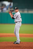 Jackson Generals pitcher Trevor Miller (18) gets ready to deliver a pitch during a game against the Montgomery Biscuits on April 29, 2015 at Riverwalk Stadium in Montgomery, Alabama.  Jackson defeated Montgomery 4-3.  (Mike Janes/Four Seam Images)