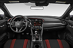 Stock photo of straight dashboard view of 2020 Honda Civic-Si-Sedan Si 4 Door Sedan Dashboard