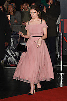 """Anna Kendrick<br /> at the premiere of """"The Accountant"""" at the Empire Leicester Square, London.<br /> <br /> <br /> ©Ash Knotek  D3183  17/10/2016"""
