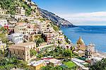 The spectacular coastal town of Positano on the Amalfi Coast in Italy.