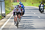 The front group of favourites led by World Champion Anna Van Der Breggen (NED) Team SD Worx near the end of Liege-Bastogne-Liege Femmes 2021, running 141km from Bastogne to Liege, Belgium. 25th April 2021.  <br /> Picture: A.S.O./Gautier Demouveaux | Cyclefile<br /> <br /> All photos usage must carry mandatory copyright credit (© Cyclefile | A.S.O./Gautier Demouveaux)