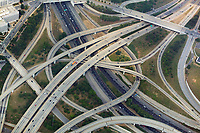aerial photograph of a complex freeway interchange in Atlanta, Georgia