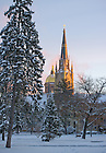Jan. 24, 2013; Main Building and Basilica on a winter morning..Photo by Matt Cashore/University of Notre Dame