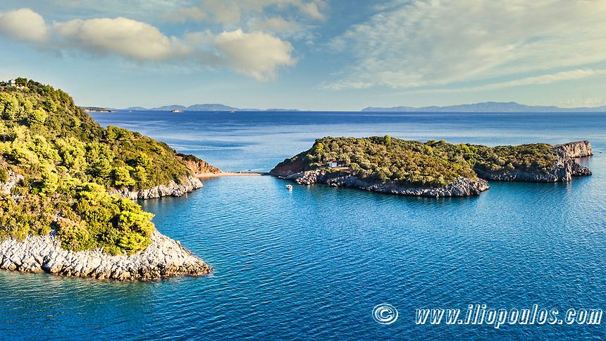 The beach Agios Vasileios near Agia Anna in Evia island, Greece
