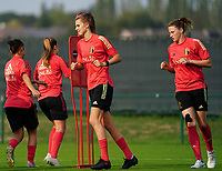 20200911 - TUBIZE , Belgium : Maire Minnaert (L) and Heleen Jacques (R) pictured during a training session of the Belgian Women's National Team, Red Flames , on the 11th of September 2020 in Tubize. PHOTO SEVIL OKTEM| SPORTPIX.BE