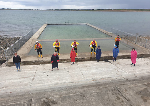 Ballyglass RNLI volunteers with Belmullet Tidal Pool Swimmers