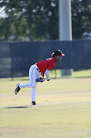 Brandon Fields (65) of Dr. Phillips High School in Orlando, Florida during the Under Armour Baseball Factory National Showcase, Florida, presented by Baseball Factory on June 13, 2018 the Joe DiMaggio Sports Complex in Clearwater, Florida.  (Nathan Ray/Four Seam Images)