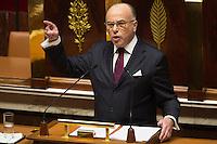 French Prime Minister Bernard Cazeneuve delivers a speech outlining his new government program at the National Assembly in Paris, France, December 13, 2016. # BERNARD CAZENEUVE PRONONCE SON DISCOURS DE POLITIQUE GENERALE