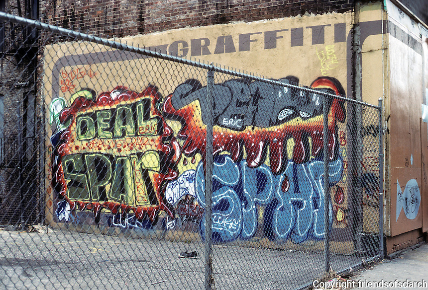 New York City: Lower East side--wall graffiti. Photo '78.